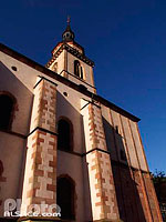 Photo : Eglise Romane Saint-Pierre et Paul, Andlau, Bas-Rhin (67), Alsace, France