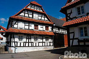 Photo : Maison alsacienne, Hunspach, Bas-Rhin (67)