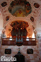 Photo : Orgue (Silbermann) de l'Abbatiale Saint-Maurice, Ebersmunster, Bas-Rhin (67), Alsace, France