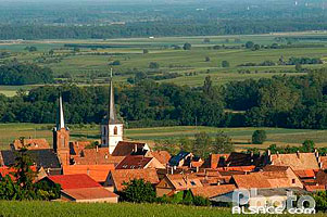 Photo : Village de Mittelbergheim et sont vignoble, Bas-Rhin (67), Alsace, France