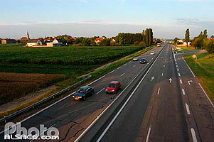 Photo : Route nationale N83, Matzenheim, Bas-Rhin (67)