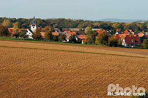 Photo : Village de Schaffhouse-sur-Zorn, Bas-Rhin (67), Alsace, France