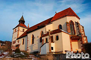 Photo : Chapelle Saint-Sebastien, Dambach-la-Ville, Bas-Rhin (67), Alsace, France