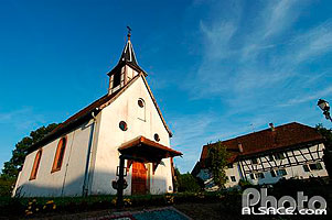 Photo : Eglise Saint-Laurent, Reimerswiller, Commune de Betschdorf, Bas-Rhin (67)