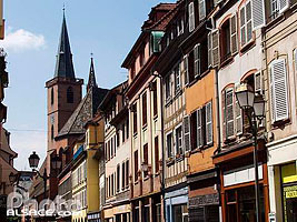 Photo : Clocher de l'eglise Saint-Pierre le Vieux, Grand'Rue, Strasbourg, Bas-Rhin (67), Alsace, France