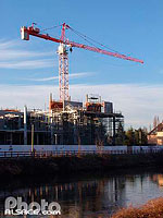 Photo : Immeuble de la chaine de television ARTE en construction, Quai du Chanoine Winterer, Strasbourg, Bas-Rhin (67)
