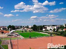 Photo : Terrain de foot, Schiltigheim, Bas-Rhin (67)