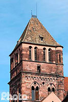 Photo : Clocher de l'église Saint-Thomas, Strasbourg, Bas-Rhin (67)