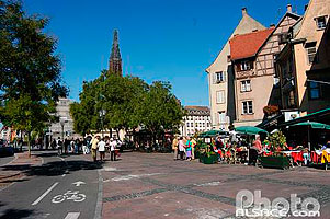 Photo : Place du Corbeau, Strasbourg, Bas-Rhin (67)