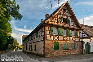 Photo : Maison Alsacienne, Wickersheim-Wilshausen, Pays de Hanau, Bas-Rhin (67), Alsace, France