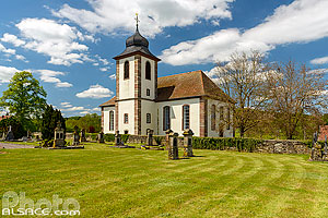 Photo : Eglise protestante de Berg, Berg, Alsace Bossue, Bas-Rhin (67)
