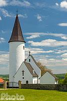 Eglise Saint-Jean-Baptiste au sommet du Kirchberg (ou encore chapelle du Kirchberg est l'une des plus anciennes église d'Alsace), Berg, Alsace Bossue, Bas-Rhin (67), Alsace, France
