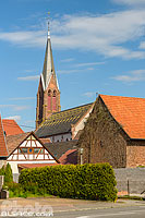 Photo : Eglise catholique Saint-Laurent, Woerth, Bas-Rhin (67), Alsace, France