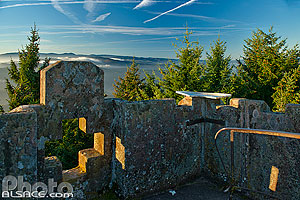 Photo : Tour Julius au sommet du Climont, Urbeis, Bas-Rhin (67)