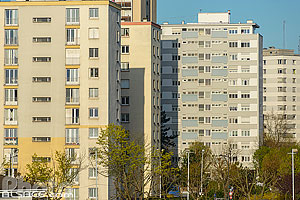 Photo : Immeubles du quartier de l'Esplanade, Strasbourg, Bas-Rhin (67)