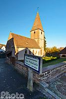 Eglise Protestante de Weiterswiller, Parc naturel régional des Vosges du Nord, Bas-Rhin (67), Alsace, France
