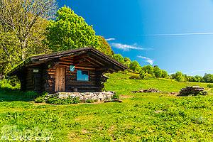 Obere Bers refuge communal de la Haute Bers (Les Chalets de la Doller), Haute Bers, Rimbach-près-Masevaux, Parc naturel régional des Ballons des Vosges, Haut-Rhin (68), Alsace, France