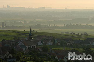 Photo : Village et vignoble de Gertwiller, Bas-Rhin (67), Alsace, France