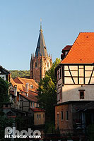 Photo : Abbatiale Saint-Pierre et Paul, Wissembourg, Bas-Rhin (67), Alsace, France
