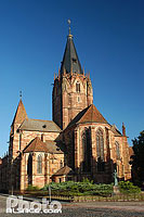 Photo : Eglise abbatiale Saint-Pierre et Paul, Wissembourg, Bas-Rhin (67), Alsace, France