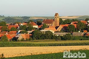 Photo : Village de Saessolsheim, Bas-Rhin (67)