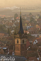 Photo : Clocher de l'ancienne chapelle Notre-Dame (Kapellturm), Obernai, Bas-Rhin (67), Alsace, France