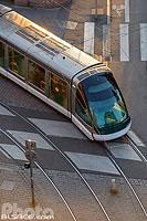 Rame de tramway, Place Saint-Pierre-le-Vieux, Strasbourg, Bas-Rhin (67), Alsace, France