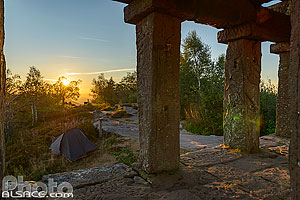 Photo : Temple gallo Romain au sommet du Donon, Grandfontaine, Bas-Rhin (67)