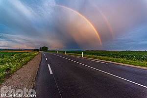 Photo : Arc-en-ciel route de Saverne (D41), Stutzheim-Offenheim, Bas-Rhin (67)