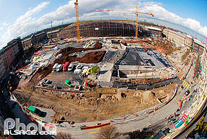 Photo : Place de la Gare en chantier, Strasbourg, Bas-Rhin (67), Alsace, France