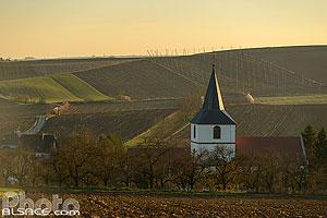 Photo clocher de l 39 glise sainte agathe et paysage - Comptoir agricole bas rhin ...