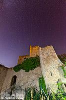 Le Château du Bernstein la nuit, Dambach-la-Ville, Bas-Rhin (67), Alsace, France