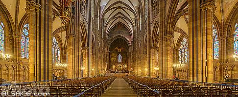 Nef de la Cathédrale Notre-Dame de Strasbourg, Strasbourg, Bas-Rhin (67), Alsace, France