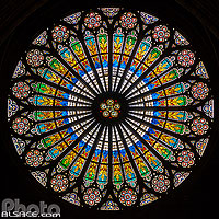 Rosace de la Cathédrale Notre-Dame de Strasbourg, Strasbourg, Bas-Rhin (67), Alsace, France