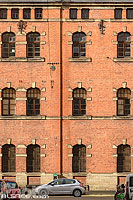 Façade d'un bâtiment militaire, Rue de Vendenheim, Strasbourg, Bas-Rhin (67), Alsace, France