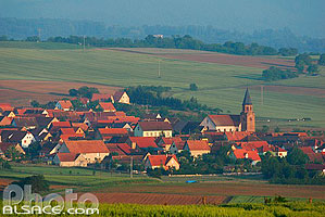 Photo : Village de Reutenbourg, Bas-Rhin (67), Alsace, France