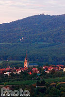 Photo : Eglise et village de Bernardswiller, Bas-Rhin (67)
