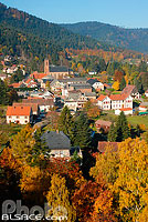 Photo : Village de Wangenbourg-Engenthal, Bas-Rhin (67), Alsace, France