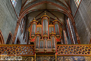 Photo : Orgue Silbermann de l'église protestante Saint-Pierre-le-Jeune, Strasbourg, Bas-Rhin (67)