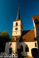 Photo : Eglise protestante Saint-Etienne, Mittelbergheim, Bas-Rhin (67), Alsace, France