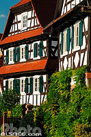Photo : Maison Alsacienne, Rue des Eglises, Seebach, Bas-Rhin (67), Alsace, France