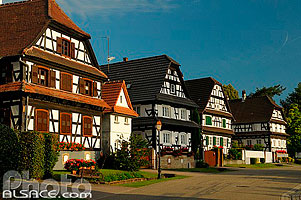 Photo : Maison Alsacienne, Rue des Forgerons, Seebach, Bas-Rhin (67), Alsace, France