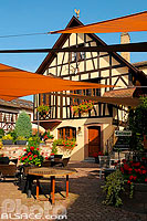 Photo : Restaurant Le Cerf, Marlenheim, Bas-Rhin (67), Alsace, France