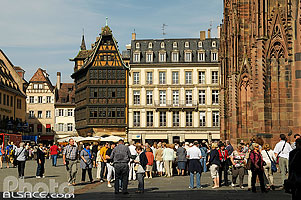 Photo : Place de la Cathédrale, Strasbourg, Bas-Rhin (67)