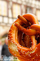 Photo : Bretzel, Strasbourg, Bas-Rhin (67), Alsace, France