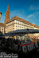 Photo : Bouquiniste, Place Gutenberg, Strasbourg, Bas-Rhin (67)