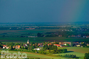 Photo : Village de Ittlenheim, Neugartheim-Ittlenheim, Bas-Rhin (67), Alsace, France