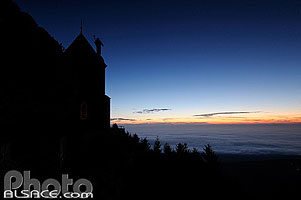 Photo : Mont Sainte-Odile et mer de nuages, Ottrott, Bas-Rhin (67)