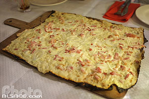 Photo : Tarte Flambée (Flammekueche), Bas-Rhin (67)