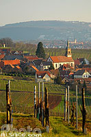 Photo : Vignoble et village de Heiligenstein, Bas-Rhin (67), Alsace, France
